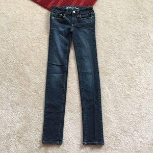 AE Stretch 00 Denim Skinny Jeans W 24 x I 31 1/4